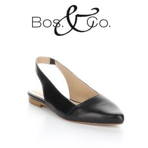 Bos. & Co. Filo Sling-Back Flats Black 41EU/10US